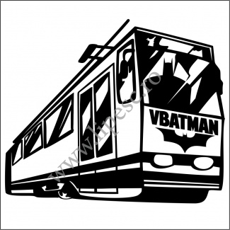 Sticker auto VBATMAN