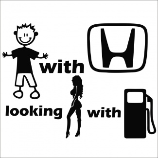 Sticker auto honda