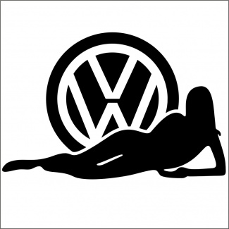 Sticker auto vw girl