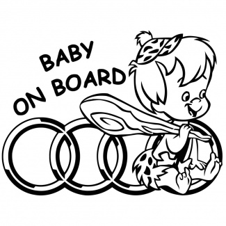 Sticker baby on board AUDI