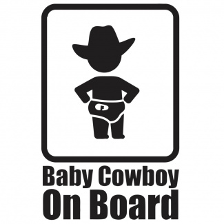 Sticker baby on board - Cowboy