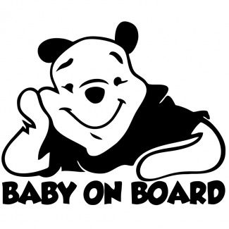 Sticker baby on board- winnie