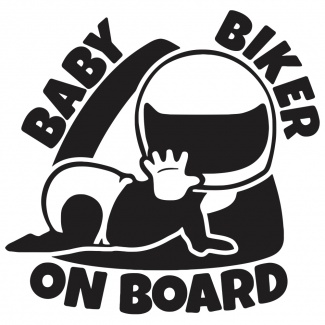 Sticker biker on board