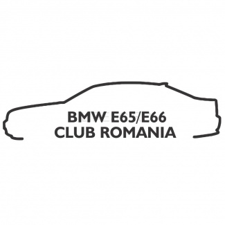 Sticker bmw e65