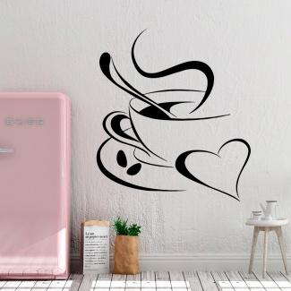 Sticker cafea din inima