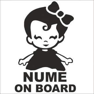 Stickere personalizate baby on board
