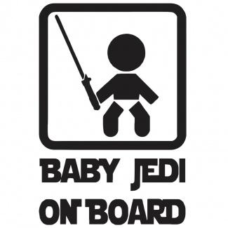 Stickere auto Baby on board- JEDI