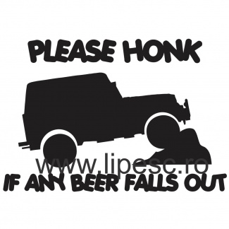 Stickere off road beer