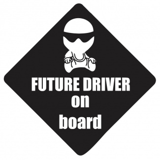 Sticker future driver on board