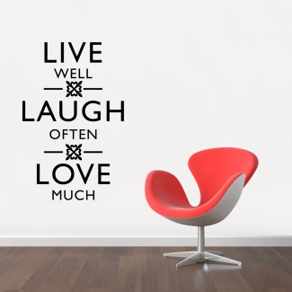 Sticker live-laugh-love