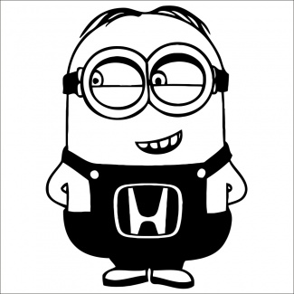 Sticker minion honda