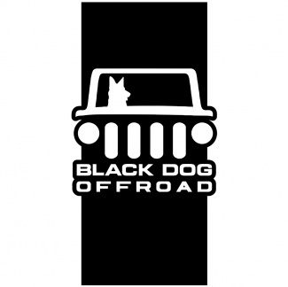 Sticker offroad dog