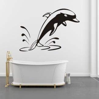 Sticker silueta delfin