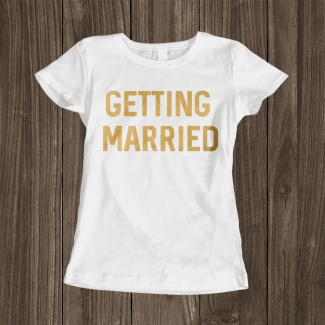 Tricou mireasa getting married