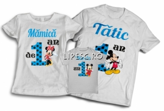 Tricouri aniversare cu nume si varsta copilului