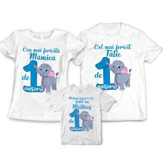 Tricouri aniversare cu elefant