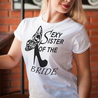 Tricouri burlacite sexy sister of the bride 2