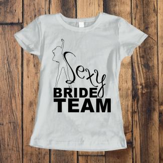 Tricouri petrecerea burlacitelor sexy bride team