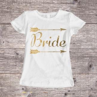 Tricouri petrecerea burlacitelor bride tribe gold