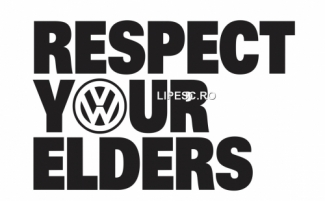Sticker resprect your elders vw