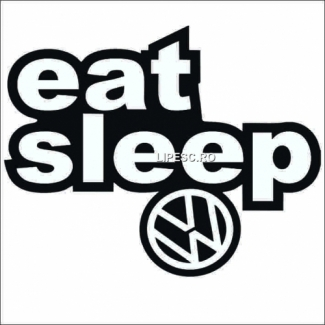 Sticker eat sleep vw