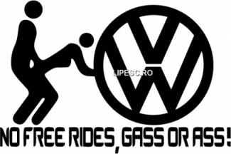 Sticker No free rides VW