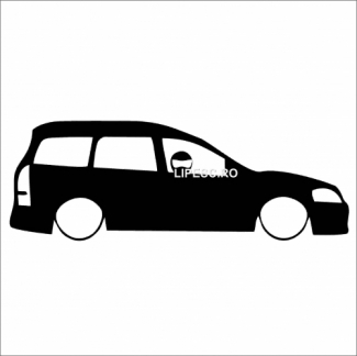 Sticker silueta Opel astra g