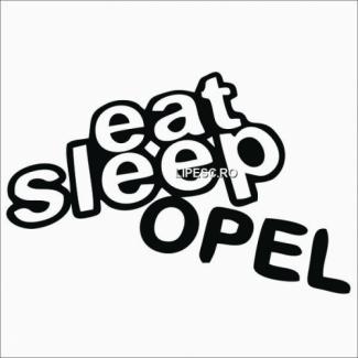 Sticker eat sleep Opel