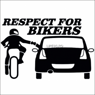 Sticker respect pentru motociclisti Dacia
