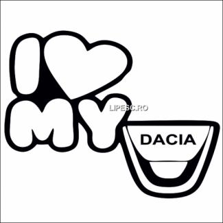 Sticker i love my Dacia