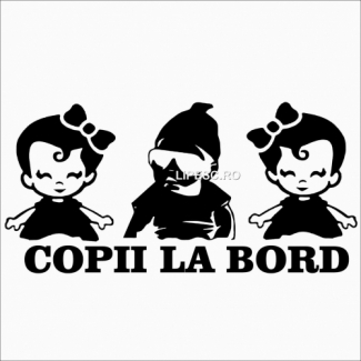 Sticker copii la bord
