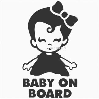 Sticker baby on board girl