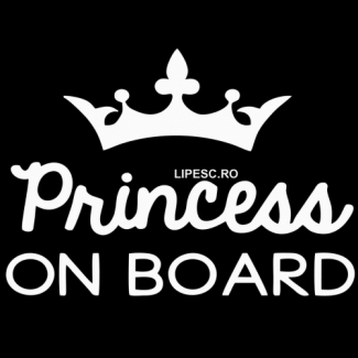 Sticker princess on board