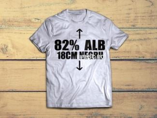 Tricou personalizat alb negru
