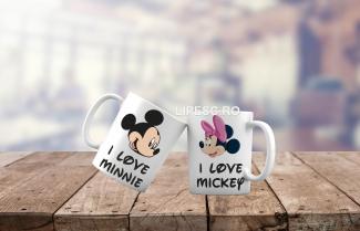Căni pentru cupluri Love Disney