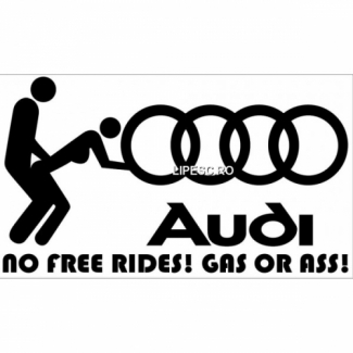 Sticker No free rides Audi