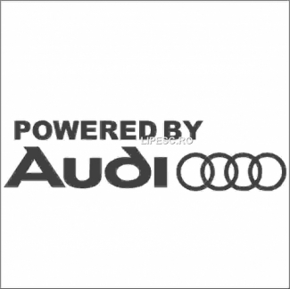 Sticker powered by Audi