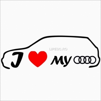 Sticker i love my audi