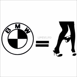 Sticker bmw=gagici