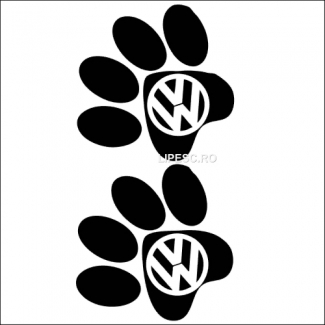 Sticker labute de catel vw