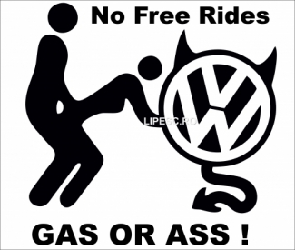 Sticker devil no free rides vw