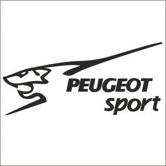 sticker auto Peugeot sport
